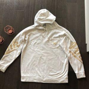 Pink gold sequin hoodie